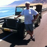 Rick with his jeep GPW