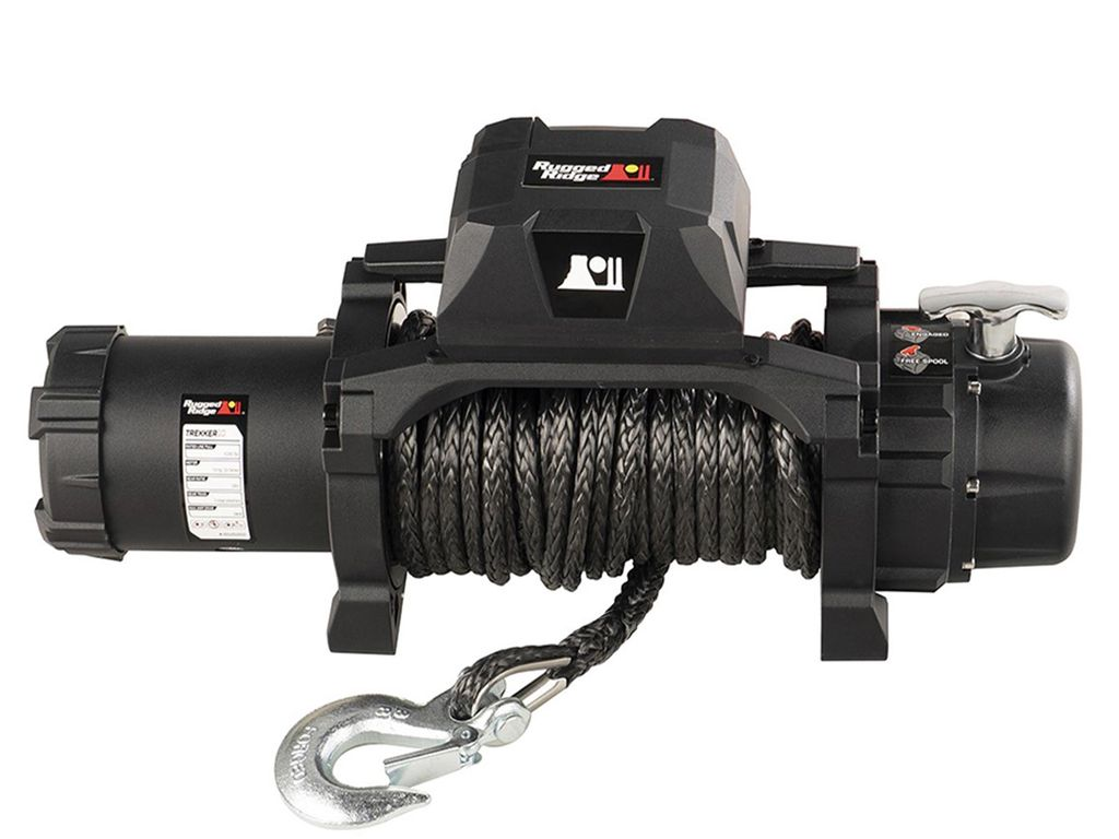 Rugged Ridge 15100.08 Trekker Winch 10000 LBS Synthetic Rope For Jeep zmodels