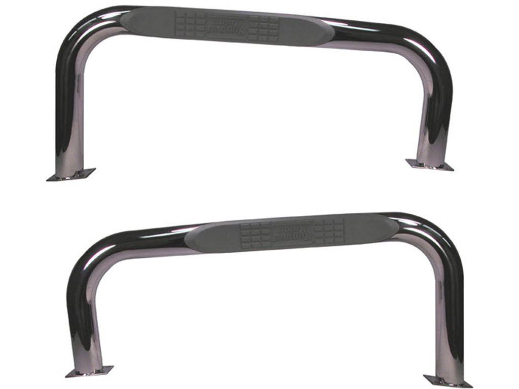 Rugged Ridge 11522.03 Stainless Steel Black Nerf Bars For 1976-1986 Jeep CJ-7