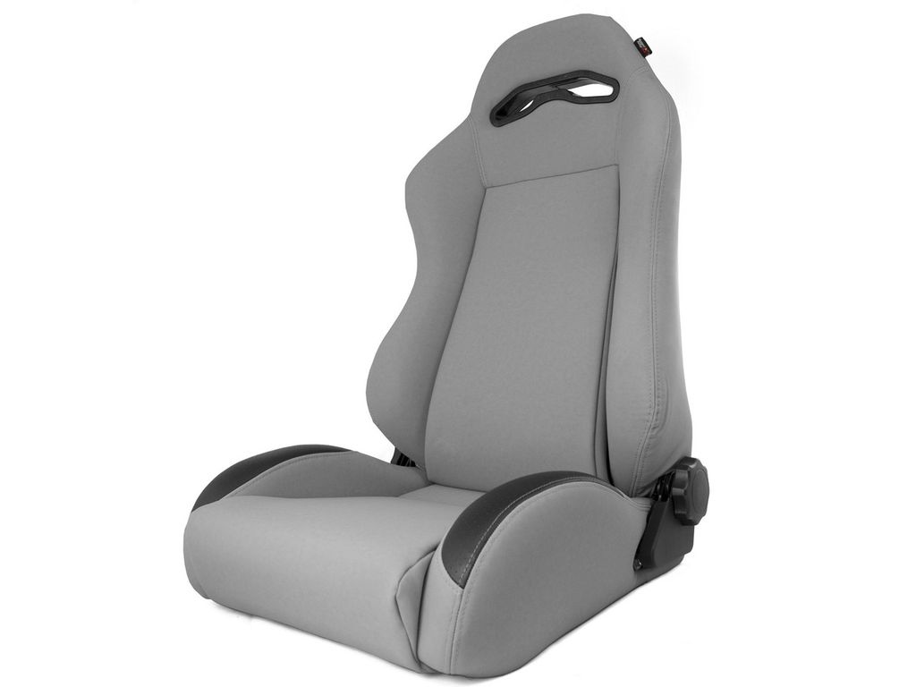 Rugged Ridge 13447.09 Sport Reclinable Front Seat For FRT XHD Sierra Gray XJ